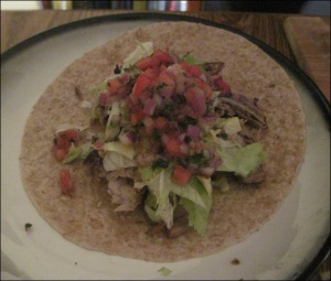 Smoked Pulled Pork Taco